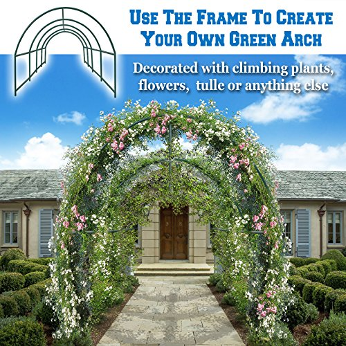 BenefitUSA Multi-use Support Arch Frame for Climbing Plants/Flowers/Vegetables, plant Trellis (24.6'X10' X 7') by BenefitUSA