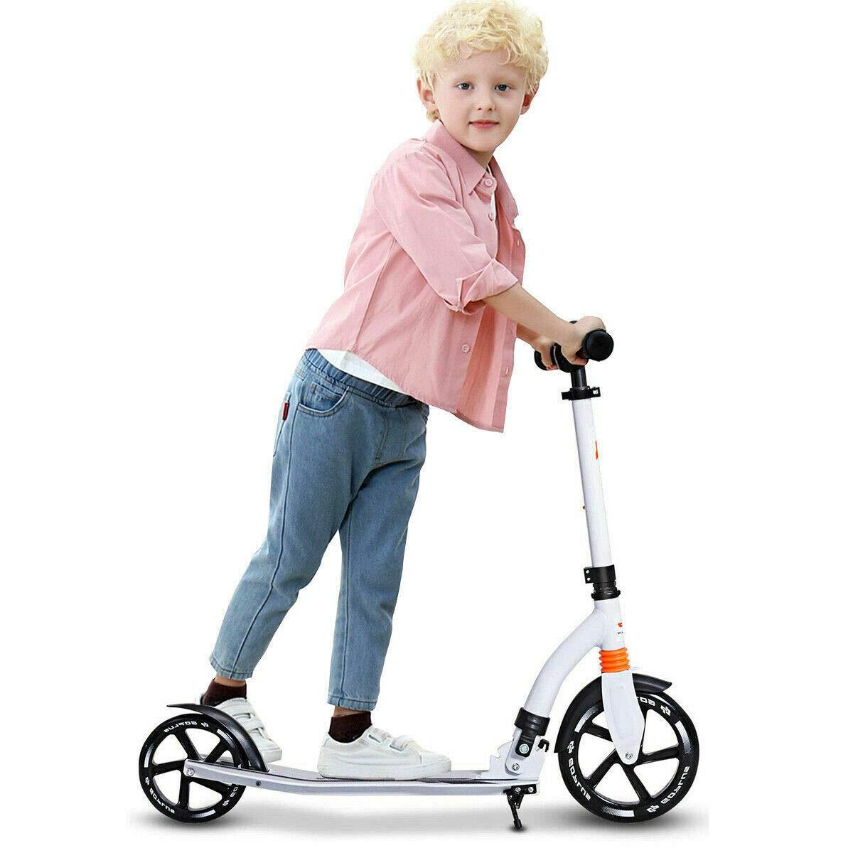 Foldable Aluminum Kids Kick Scooter Height Adjustable w Shoulder Strap Kickstand