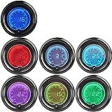 "IZTOSS 2"" 52mm Blue 7 Color LED Light Turbo Boost Gauge Vacuum Car Digital Meter Smoke Len"