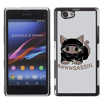 CASECO Cat Ninja Sony Xperia Z1 Compact D5503: Amazon.es ...