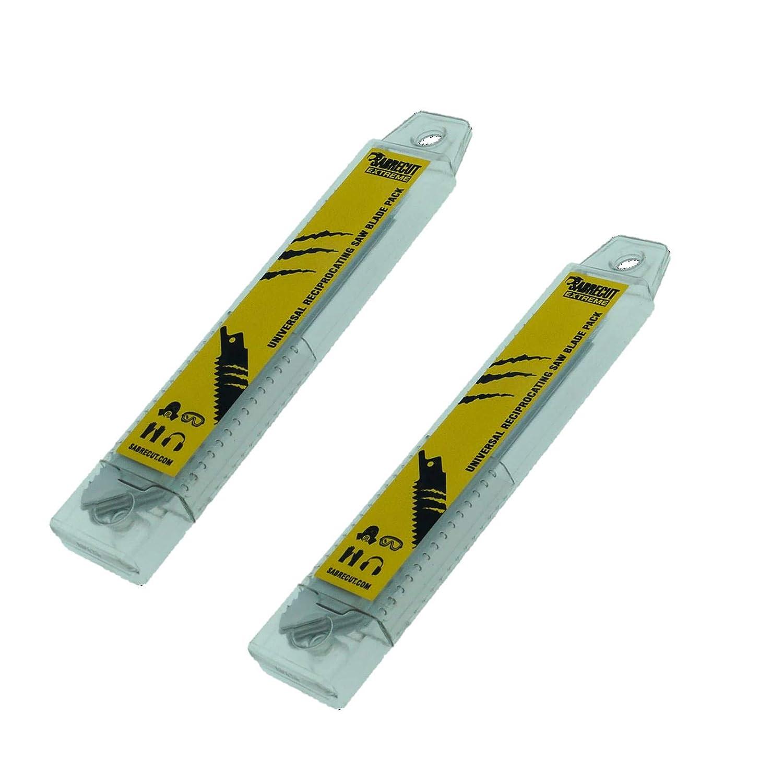 SabreCut SCRS922HF/_10 Lot de 10 lames de scie sabre pour bois et m/étal 150 mm 10 TPI S922HF
