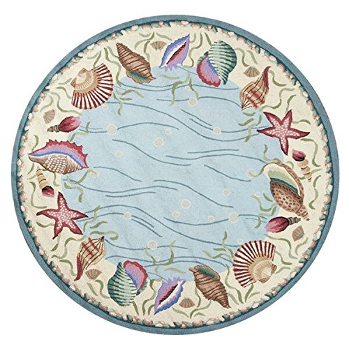 KAS Oriental Rugs Colonial Collection Ocean Surprise Round
