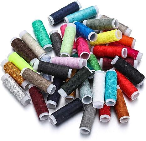 10 colors Bigdispawl filo di cotone multiuso Filo da cucito in poliestere per macchina da cucire
