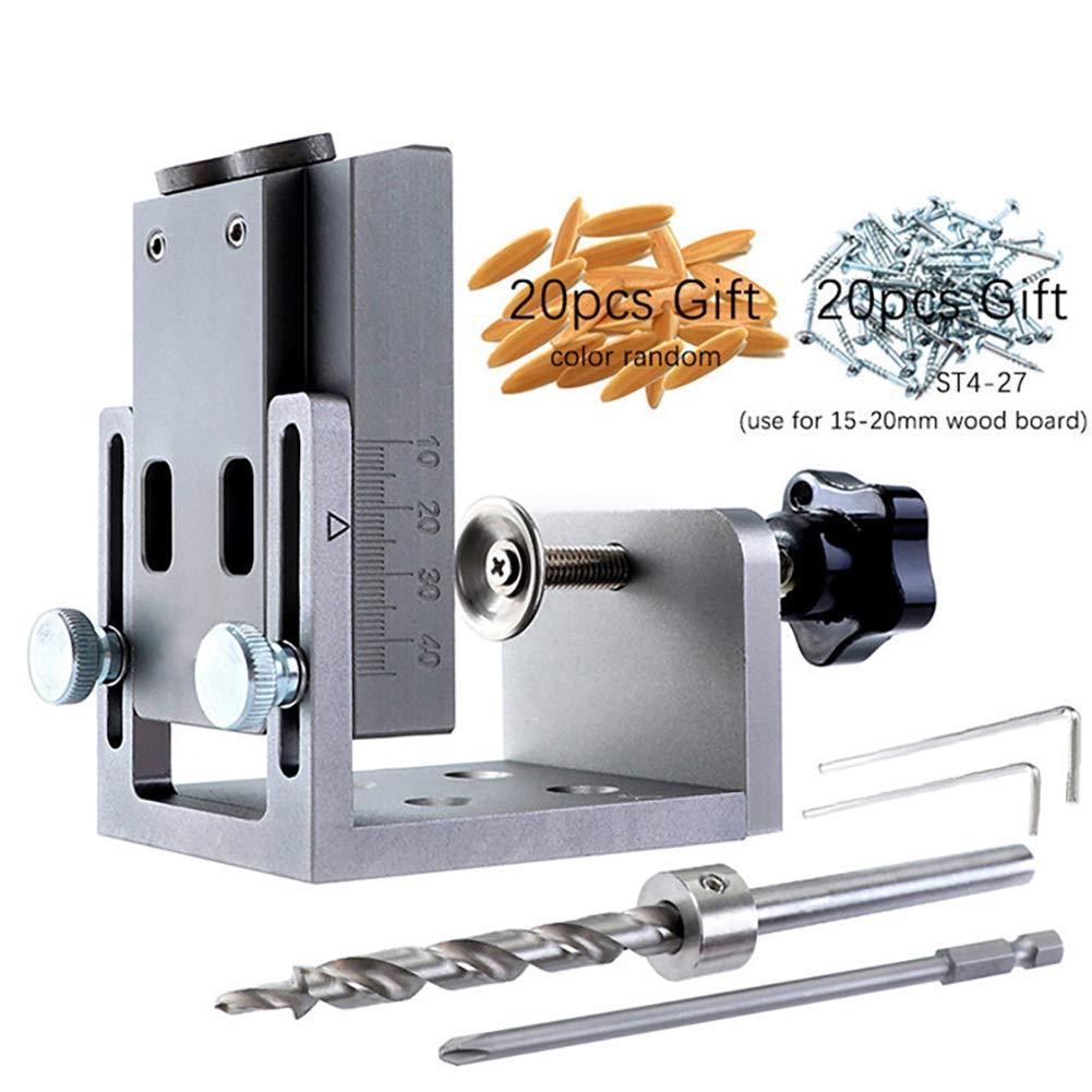 Bupin Kit de gabarit de poche avec foret /à pas 9 mm pour bois de percage gabarit gabarit outil de localisation pour menuiserie.