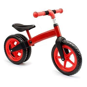 Easy-topbuy Bicicleta de Equilibrio para Niños Manillar Ajustable y Silla de Montar Rueda Trasera de Doble Hilera sin Pedal para Niños de 2 a 4 Años.