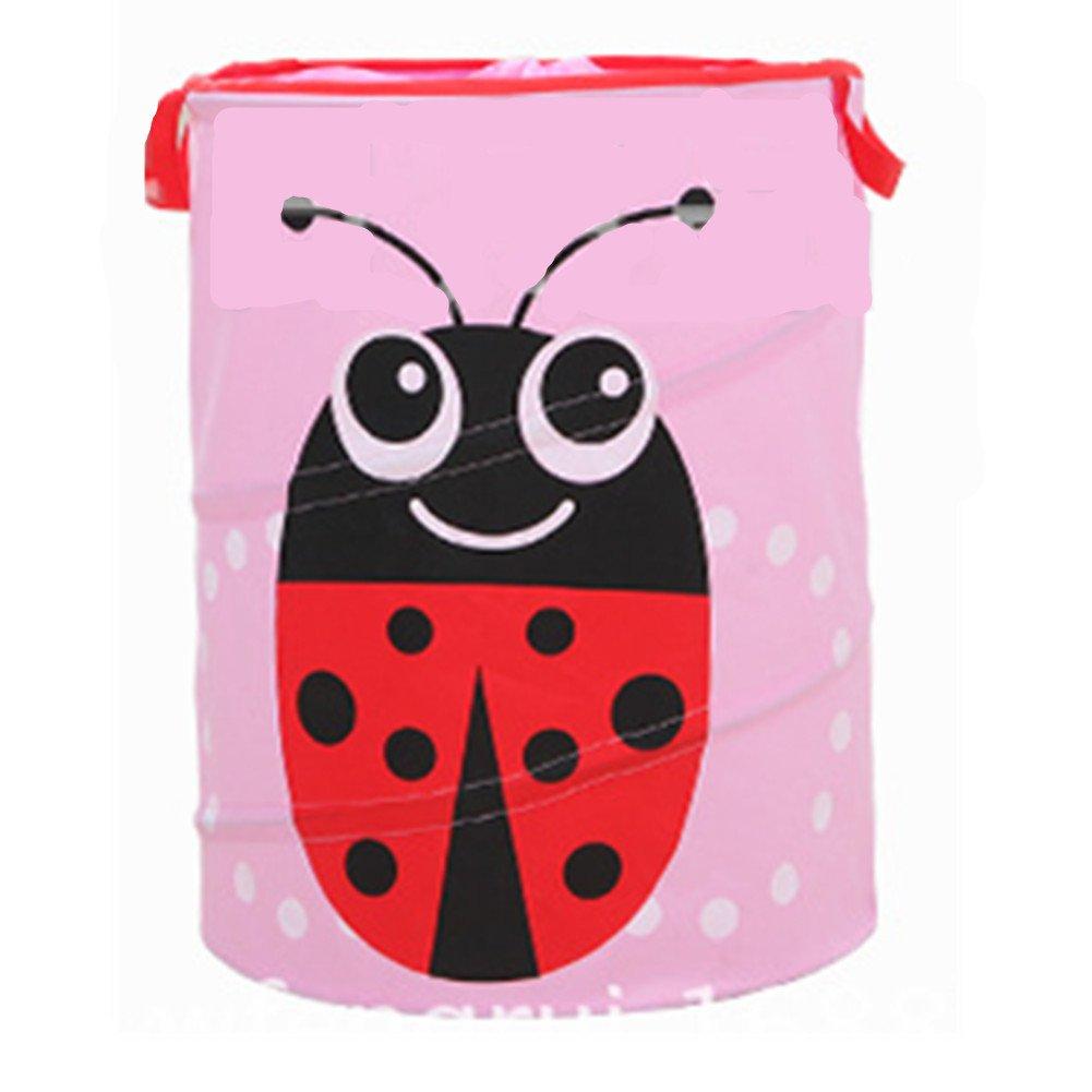 Nylon Foldable Kids Adult Storage Box Toy Bag (Ladybug)