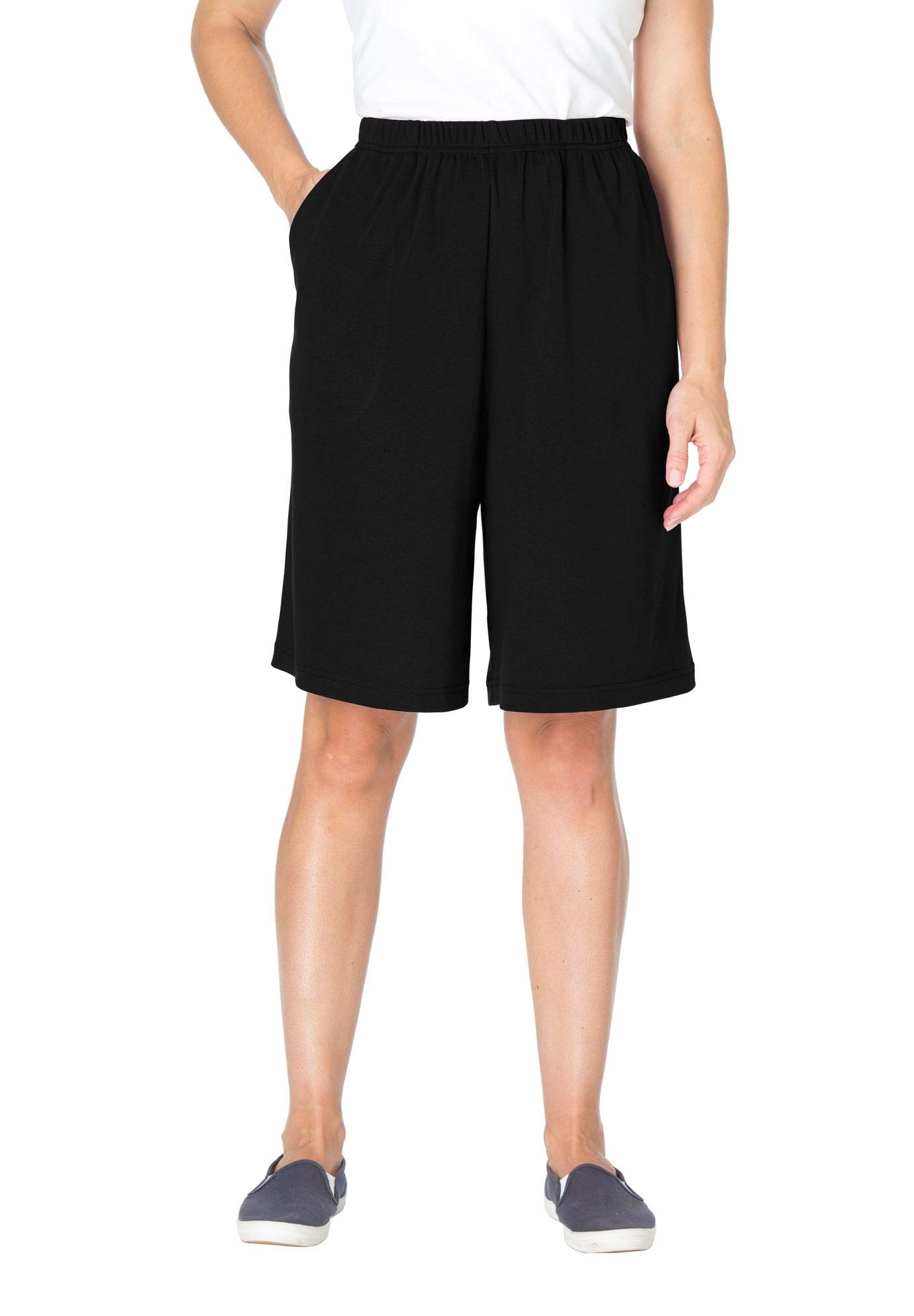 Women's Plus Size 7-Day Knit Short by Woman Within (Image #1)