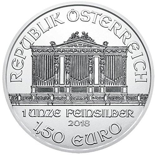 2018 AT Austria Philharmonic Silver Bullion 1 Troy Oz €1.5 Euro Brilliant Uncirculated Austrian Mint