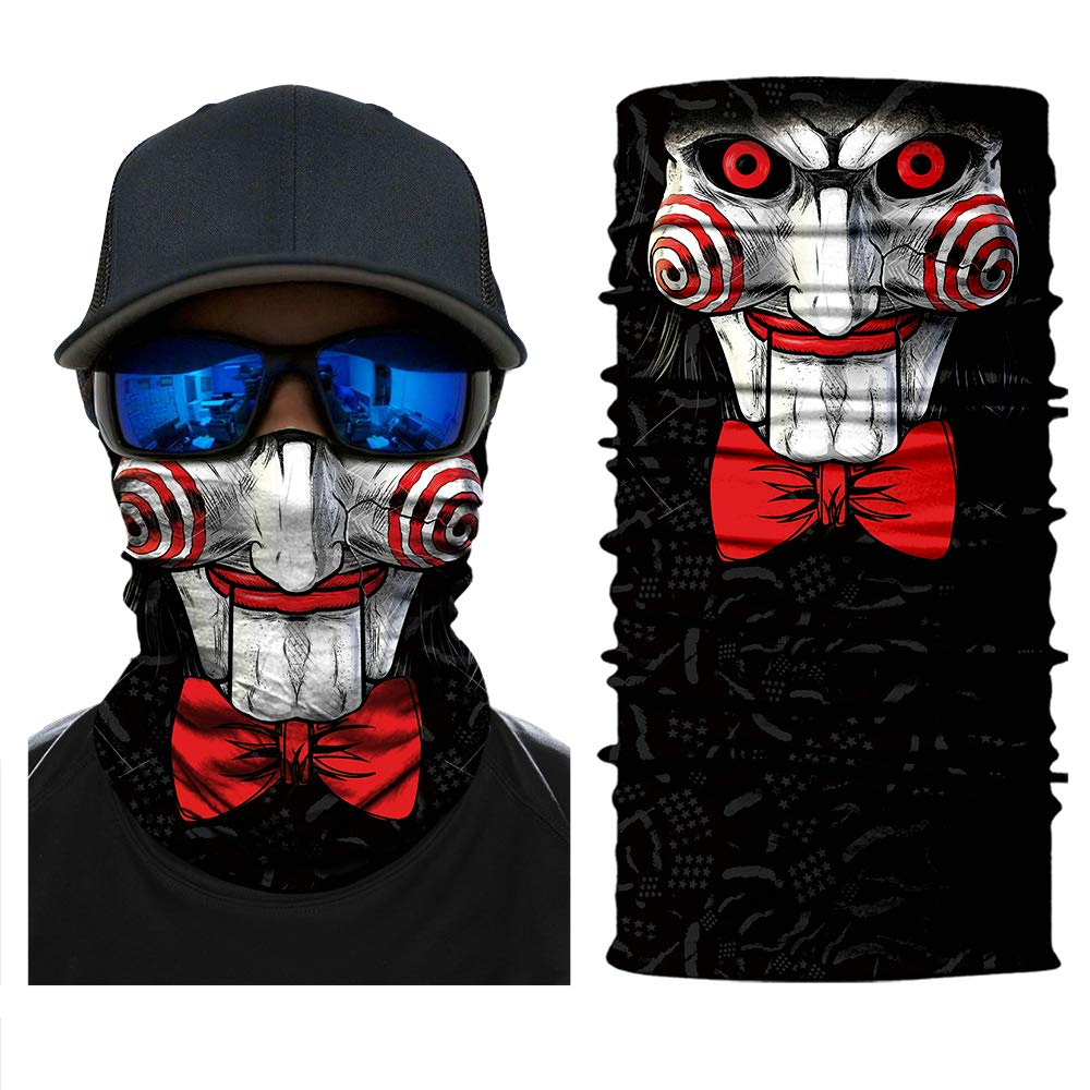 Heinmo Motorcycle Riding Balaclava ski mask Face Mask Skull 3D Neck Scarf Women Men (PL180526) Heinmo Plus