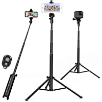 Selfie Stick Tripod 52 Inch Cell Phone Tripod Stand with Bluetooth Remote Smartphone for iPhone 11 Xs X 6 7 8, Android…
