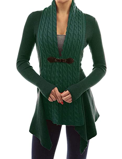 69bb26e467d Image Unavailable. Image not available for. Color  Women s Buckle Braid Front  Cardigan