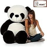 HOLME'S Girl's Silk Stuffed Spongy Huggable Cute Panda Teddy Bear, 4 Feet (White and Black, Panda)