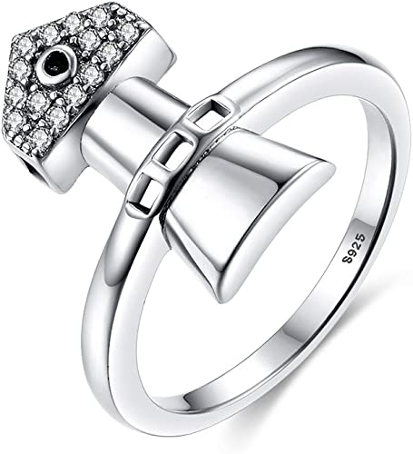 CloseoutWarehouse Clear Cubic Zirconia Past Present Future Ring Rhodium Plated Sterling Silver