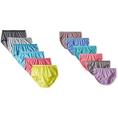 e893b35247be Fruit of the Loom Women's Beyond Soft 6 Pack Brief & 6 Pack Bikini Panties  at Amazon Women's Clothing store: