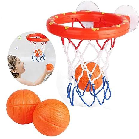 SZeao Juguetes De Baño Baño De Baloncesto Baloncesto De Baño para ...