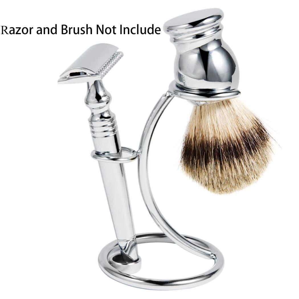 Shaving Razor and Brush Stand Universal Holder for Safety Razor Storage Shave Brush Holder