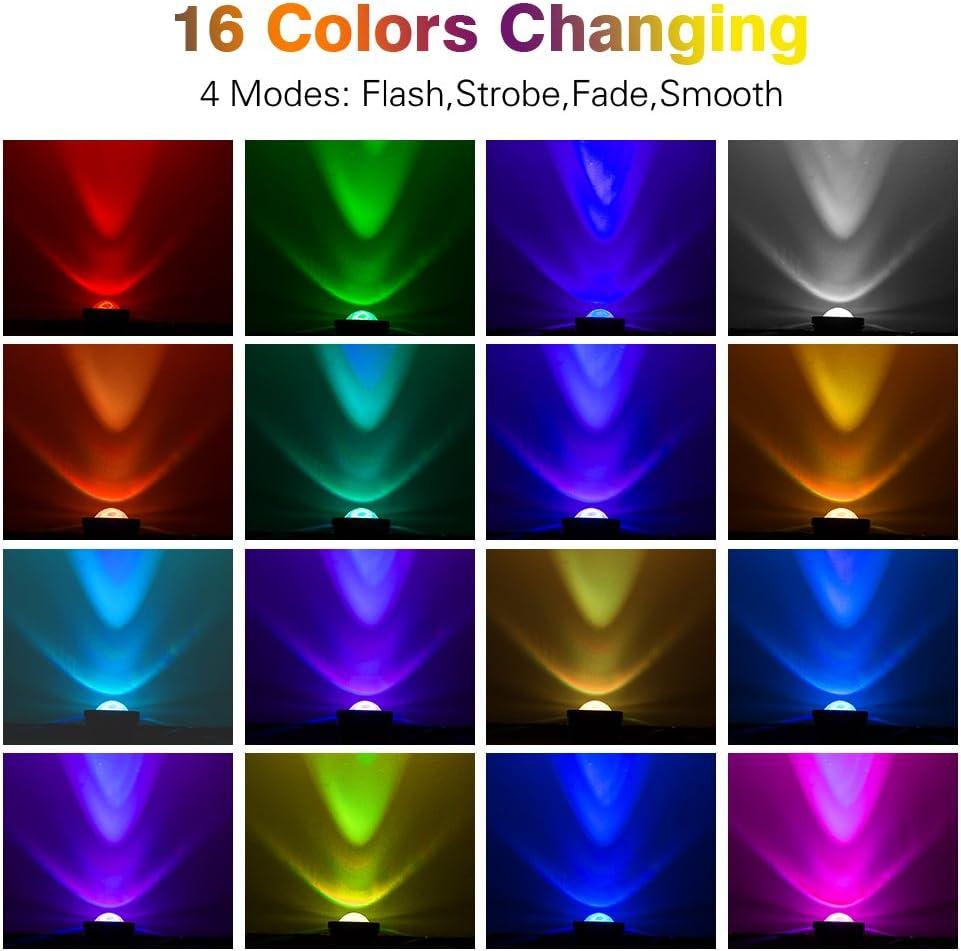 RUICAIKUN LED Flood Light 10W Waterproof Outdoor US Plug RGB Light with Remote Control (DC/AC 12V),Above Ground LED Spotlights: Home Improvement