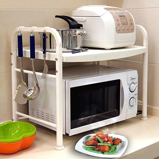 WENZHE Estantería Cocina Baldas Horno Microondas Acero ...