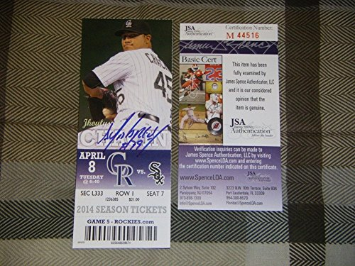 Jose Abreu Autographed Signed 1St MLB Hr Homerun Game JSA Coa TicketStub 2014 Roy Debut