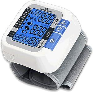 Easy@Home Digital Wrist Blood Pressure Monitor (BP Monitor) with Pulse Meter and Backlit Large Display, EBP-017