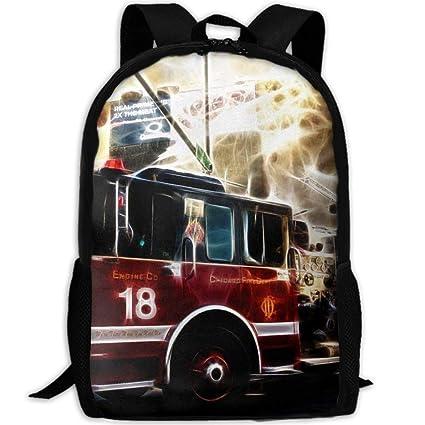 Fsfsdafsa Fire Truck Wallpaper Interest Laptop Mochila De