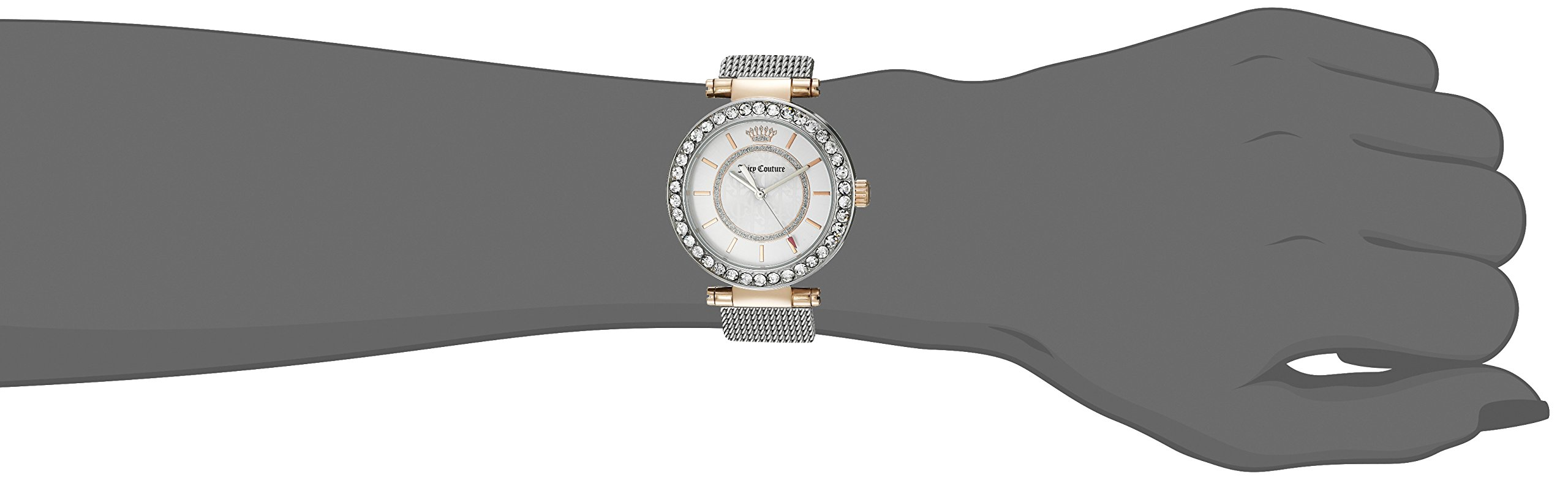 Juicy Couture Women's 1901375 Cali Analog Display Japanese Quartz Silver-Tone Watch by Juicy Couture (Image #2)