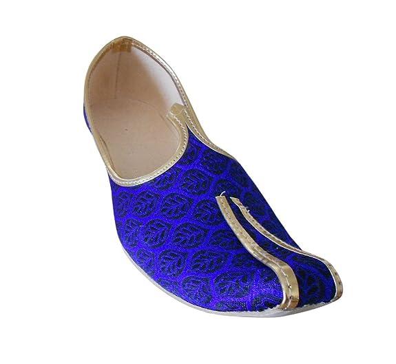kalra Creations Zapatos de seda tradicional de la India hNnN8