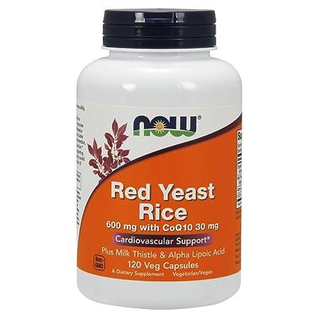 NOW Red Yeast Rice 600 mg w CoQ10 30 mg, 120 Veg Caps