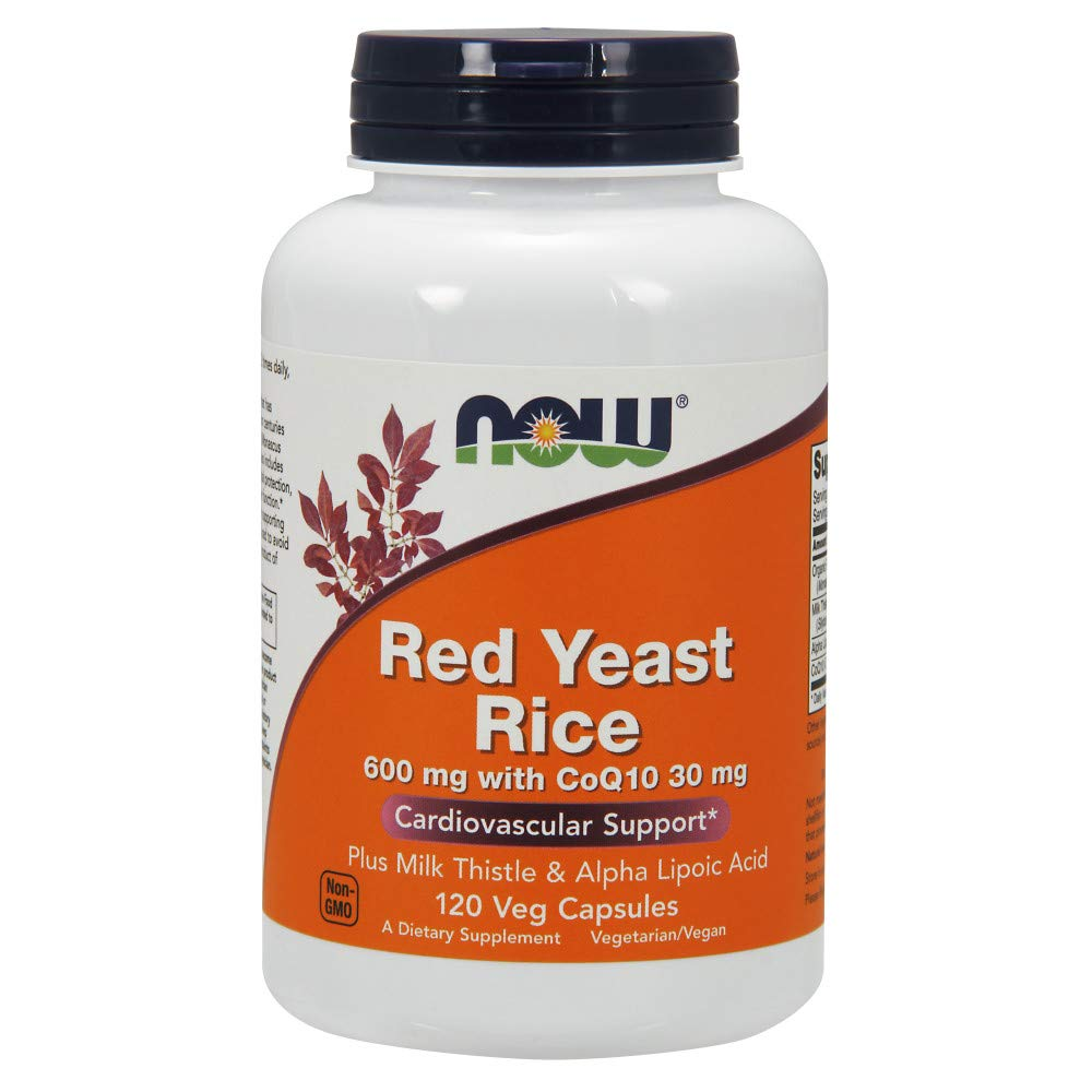 NOW® Red Yeast Rice 600 mg w/CoQ10 30 mg, 120 Veg Caps
