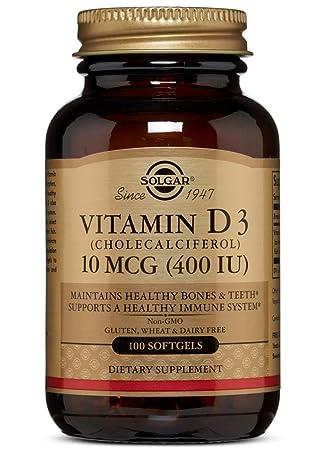 Solgar Vitamina D3 400 UI (10 μg) Cápsulas blandas - Envase ...