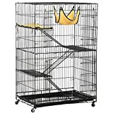 Topeakmart 4-Tier Foldable Cat Home Cages Wire Pet Crate House with Hammocks For Sale
