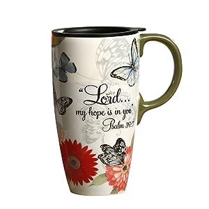 A Ting Tall Ceramic Travel Mug 17 oz. Sealed Lid With Gift Box