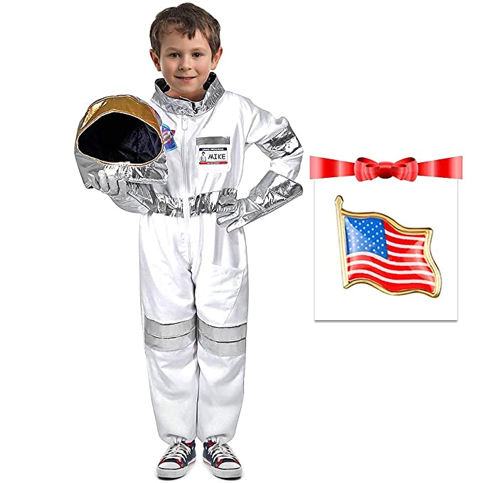 945082c4e Amazon.com  Children s Astronaut Costume Dress up Role Play Set for ...