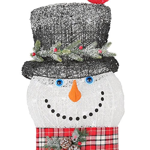 Home Accents Holiday 72IN 240L LED ACRYLIC SNOWMAN WITH 2 RED BIRDS by Home Accents Holiday (Image #1)