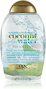 OGX Weightless Hydration + Coconut Water Shampoo, 13 Ounce Bottle, ,
