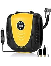 zeepin Bomba de Aire Multiusos 12 V compresor de Aire, inflador de neumáticos preestablecido Digital