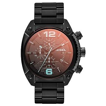 Diesel Reloj Hombre de Analogico con Correa en Chapado en Acero Inoxidable DZ4316: Amazon.es: Relojes