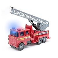 Mamatoy MMA21000-Super camion de pompier, véhicule avec lumières, sons et fonction de pulvérisation d'eau