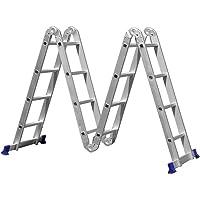 Escada multifuncional de alumínio 16 degraus  4 x 4