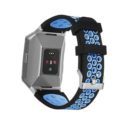 Sannysis para Fitbit Ionic Accesorios Fitbit Ionic Correas reemplazo Fitbit Ionic Funda Protector Correas de Repuesto Silicona Ligera y ventilada ...