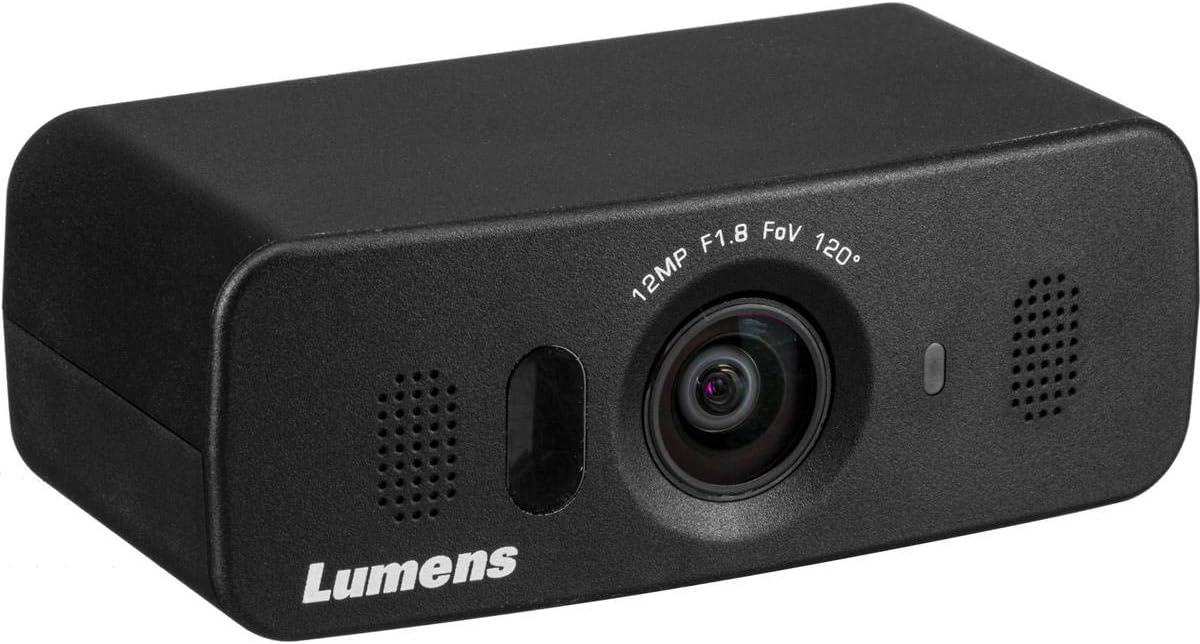 Lumens VC-B10U 12MP Ultra-HD USB 3.0 ePTZ Camera with Built-In Microphones, 8x Digital Zoom, Black