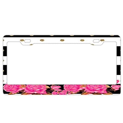 Auto Accessory Black License Plate Frame I/'D RATHER BE BALLROOM DANCING dancer