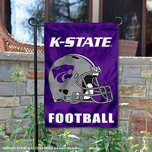College Flags and Banners Co. Kansas State University Football Helmet Garden Flag