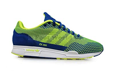 huge selection of f2e34 97a26 Mens Adidas ZX 900 WEAVE Blue Electric Yellow Trainers M19802 (UK 7.5   EUR  41