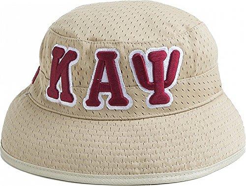 (Kappa Alpha Psi Big Letter Mens Floppy Bucket Mesh Hat [Khaki - 60)