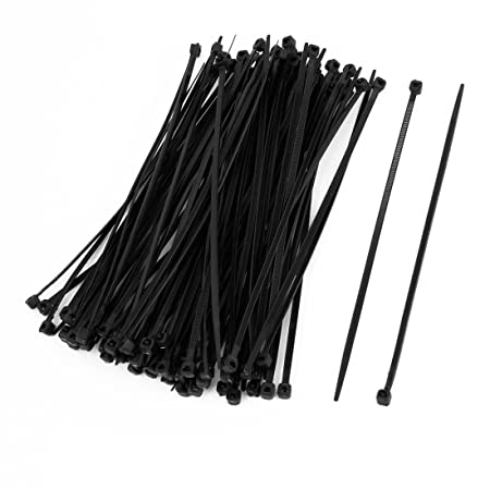 19953a06f4ae SODIAL(R) 100 Pcs 150mm x 2mm Electrical Cable Tie Wrap Nylon Fastening  Black: Amazon.co.uk: DIY & Tools