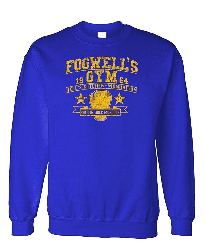 The Goozler FOGWELLS Gym Fleece Sweatshirt Daredevil Comic Hero tv