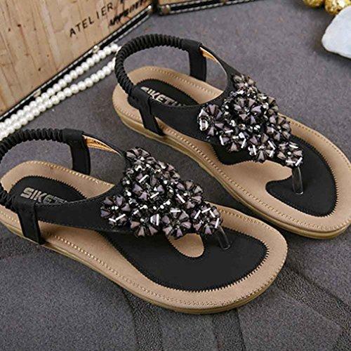 Bout Pour Beautytop Noir Chevrons Femme Femmes Pointu Bohème À Et Délicates Sandales Femmes Chaussures q8IRrxw8