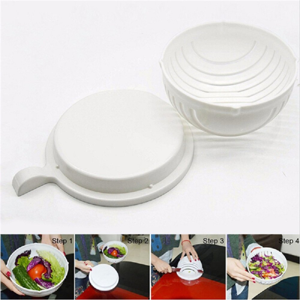 Salad Cutter Bowl, Facelink 60 Second Salad Maker,Fruit Vegetable Chopper Washer/Salad Slicer