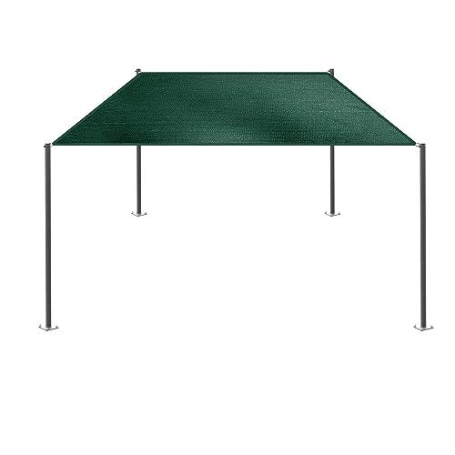 E K Sunrise 14 x 15 Green Rectangle Sun Shade Sail Outdoor Shade Cloth UV Block Fabric,Straight Edge-Customized